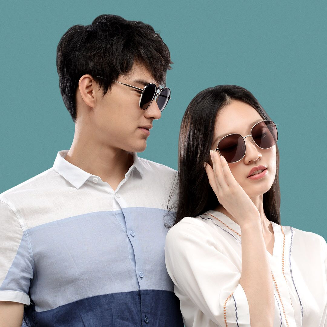Очки от солнца Xiaomi Matter Wave Metal Square Fashion Sunglasses