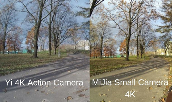 Сравнение фотографий MiJia Small Camera 4K и Yi 4K Action Camera